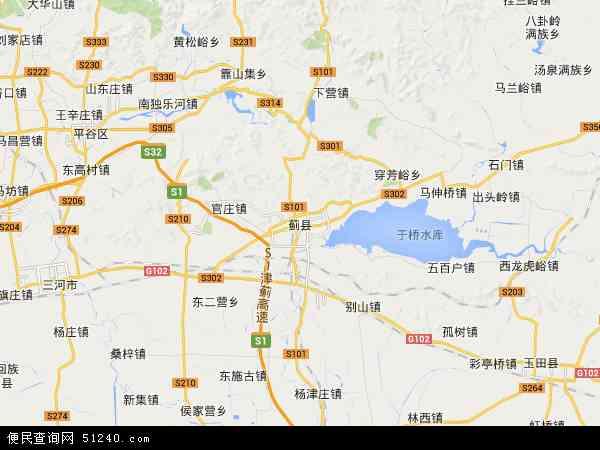 许家台镇高清卫星地图 许家台镇2017年卫星地图 中国天津市蓟县许