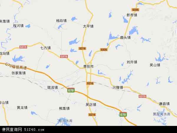 中国湖北省襄阳市枣阳市杨当镇地图(卫星地图)