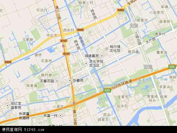 杨行镇地图 - 杨行镇卫星地图 - 杨行镇高清航拍