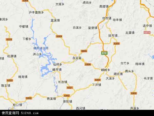 永定县地图 - 永定县卫星地图