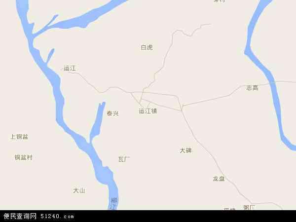中国广西壮族自治区来宾市象州县运江镇地图