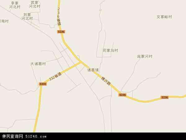 中国山东省临沂市沂水县诸葛镇地图(卫星地图)