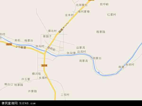 4年卫星地图 中国湖北省省直辖县级行政区划仙桃市张沟镇地图