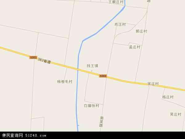 最新找王镇地图,2016找王镇地图高清版