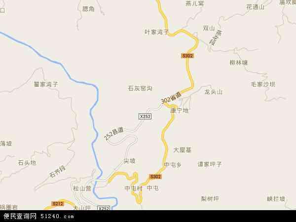 中屯镇地图 - 中屯镇电子地图