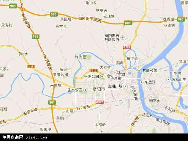 蒸湘区高清卫星地图 蒸湘区2017年卫星地图 中国湖南省衡阳市蒸湘