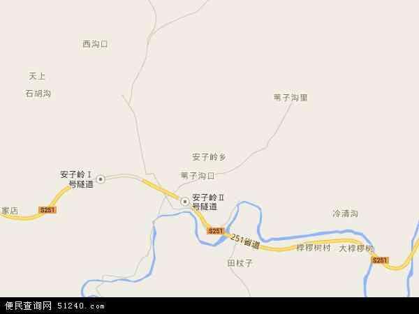 中国河北省秦皇岛市青龙满族自治县安子岭乡地图