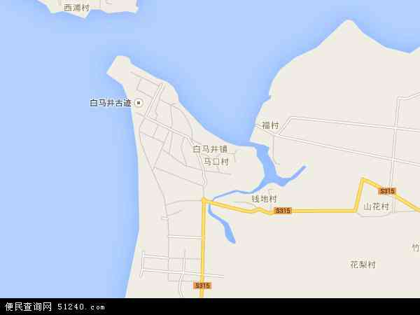 中国海南省省直辖县级行政区划儋州市白马井镇地图