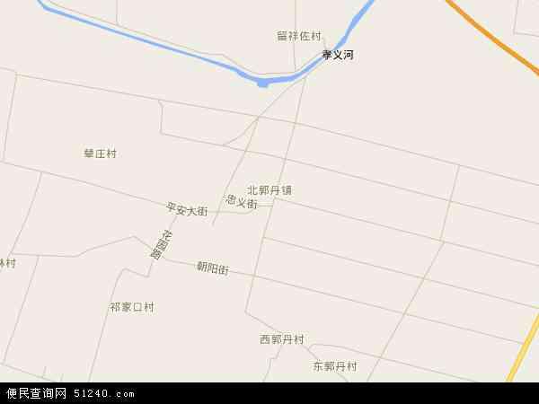 中国河北省保定市蠡县北郭丹镇地图(卫星地图)