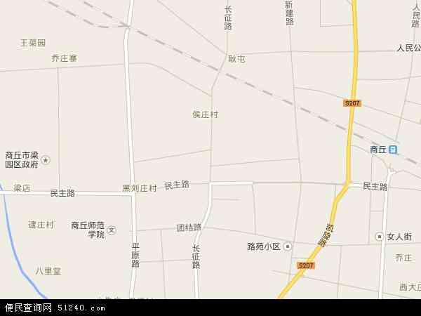 中国河南省商丘市梁园区长征地图(卫星地图)