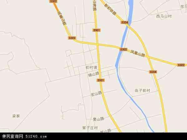 初村镇高清卫星地图 初村镇2016年卫星地图 中国山东省威海市环翠