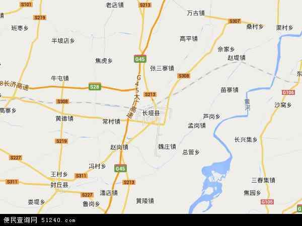 中国河南省新乡市长垣县地图(卫星地图)