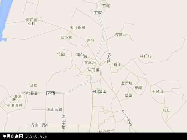 斗门镇地图 - 斗门镇电子地图 - 斗门镇高清地图 - 2017年斗门镇地图