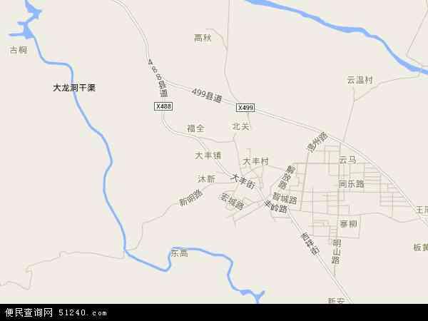 中国广西壮族自治区南宁市上林县大丰镇地图