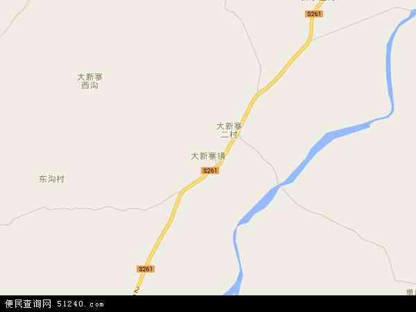 中国河北省秦皇岛市抚宁县大新寨镇地图(卫星地图)