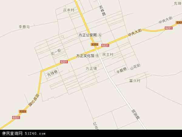 方正镇地图 - 方正镇卫星地图图片