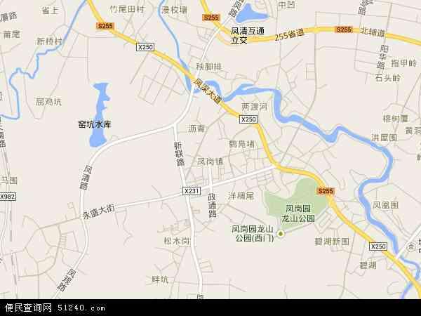 凤岗社区地图 - 凤岗社区电子地图