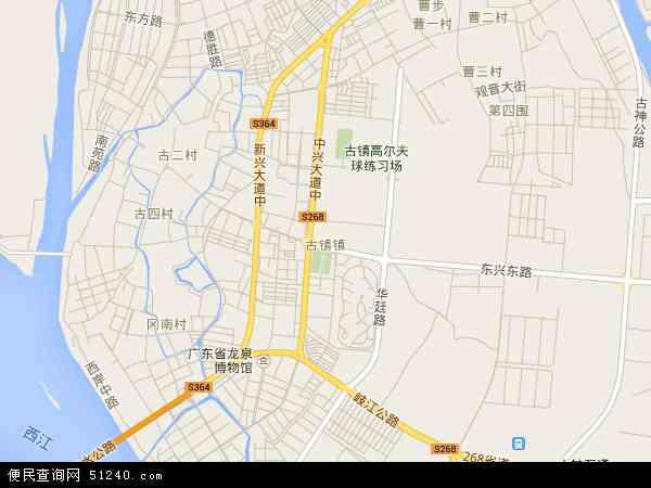 古镇镇地图 - 古镇镇卫星地图