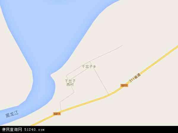 中国黑龙江省黑河市逊克县干岔子乡地图(卫星地图)
