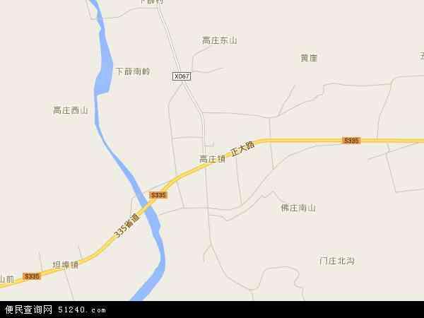 中国山东省临沂市沂水县高庄镇地图(卫星地图)