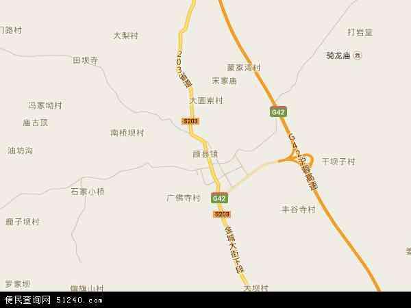 顾县镇地图 - 顾县镇电子地图