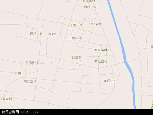 中国河北省邯郸市大名县红庙乡地图(卫星地图)