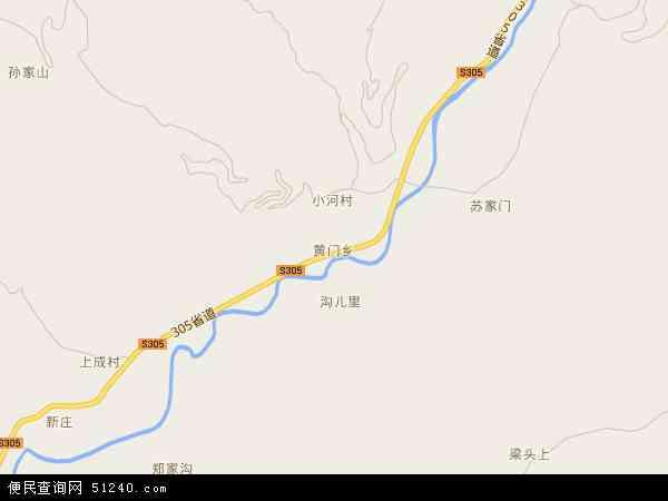 中国甘肃省天水市清水县黄门乡地图(卫星地图)