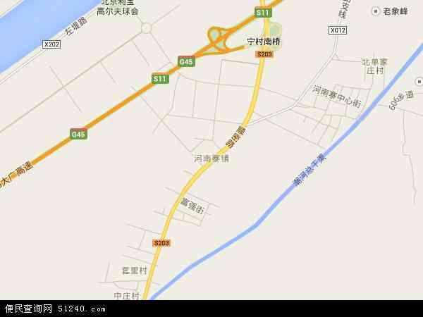 河南寨镇电子地图