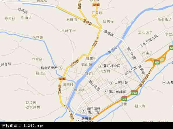 鹤山镇地图 - 鹤山镇电子地图