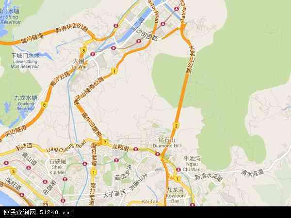 香港黄大仙区地图_黄大仙区地图 - 黄大仙区卫星地图 - 黄大仙区高清航拍地图