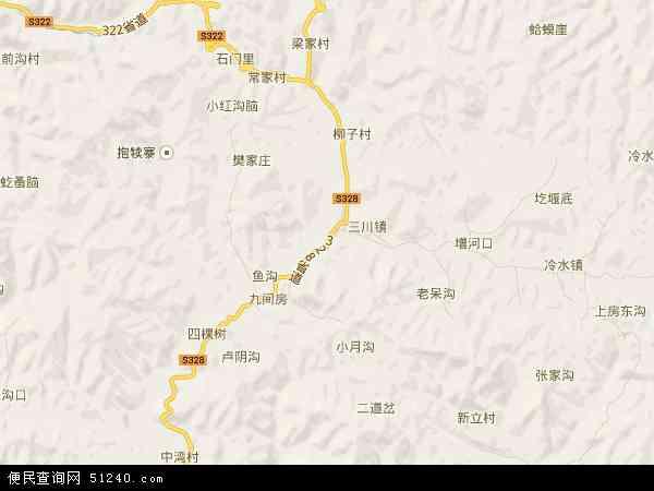 中国河南省洛阳市栾川县叫河镇地图(卫星地图)图片