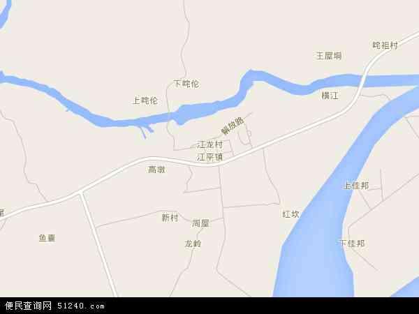中国广西壮族自治区防城港市东兴市江平镇地图(卫星地图)