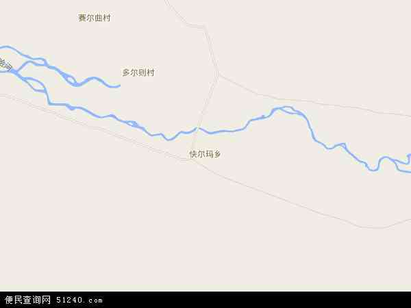 中国青海省海西蒙古族藏族自治州天峻县快尔玛乡地图(卫星地图)