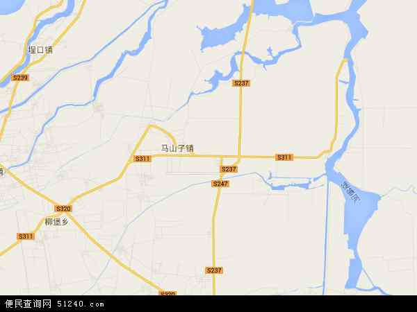 中国山东省滨州市无棣县柳堡镇地图(卫星地图)
