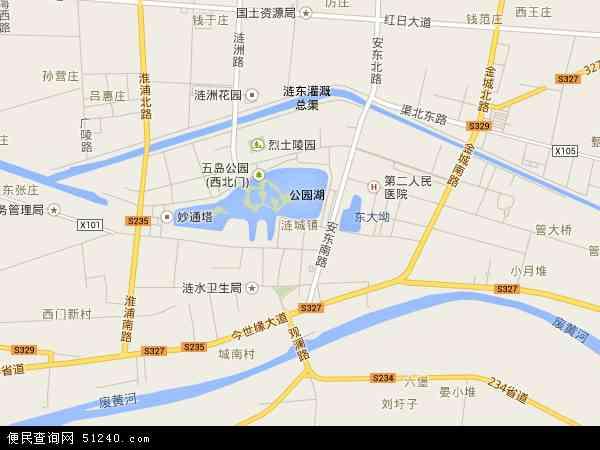 涟城镇地图 - 涟城镇电子地图 - 涟城镇高清地图 - 2017年涟城镇地图