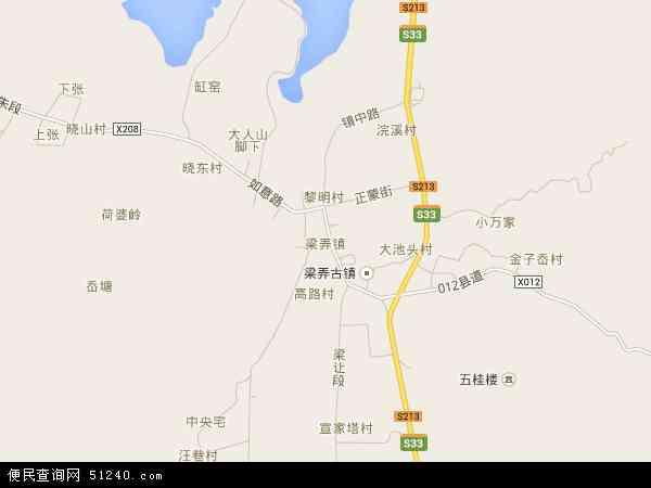 中国浙江省宁波市余姚市梁弄镇地图(卫星地图)