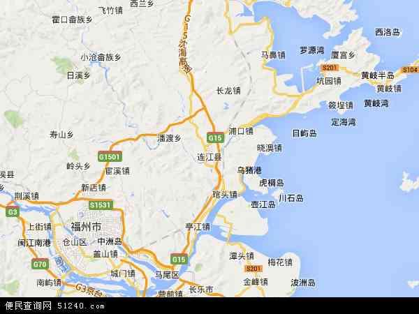 连江县地图 - 连江县卫星地图