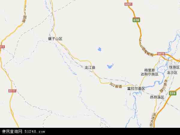 龙江县地图 龙江县卫星地图 龙江县高清航拍地图 龙江县高清卫星地图