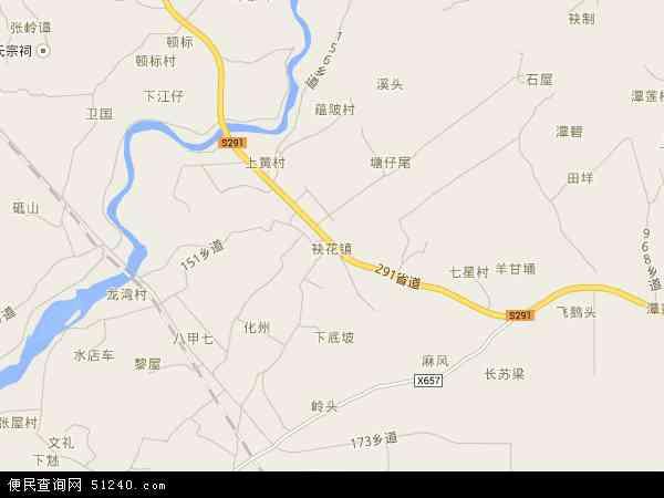 中国广东省茂名市茂南区袂花镇地图(卫星地图)