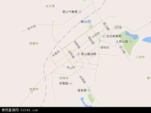 密山镇地图 - 密山镇电子地图