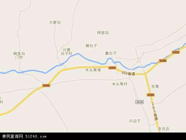 中国河北省秦皇岛市青龙满族自治县木头凳镇地图