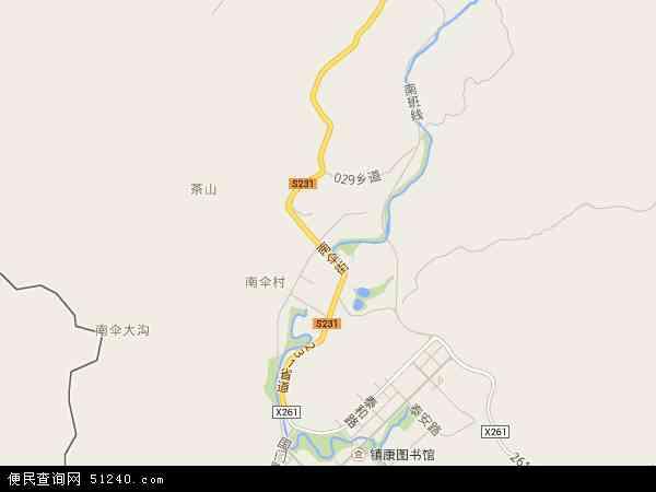 南伞镇地图 - 南伞镇电子地图