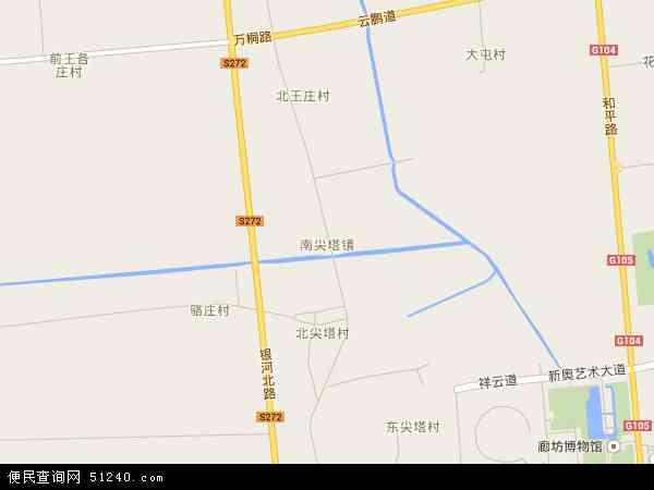 南尖塔镇地图 - 南尖塔镇卫星地图