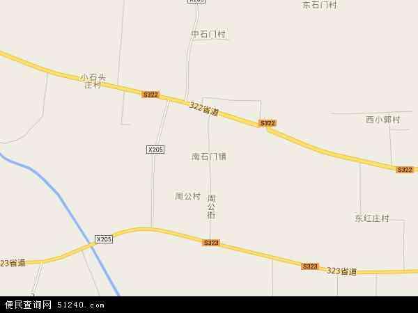 南石门镇地图 - 南石门镇电子地图