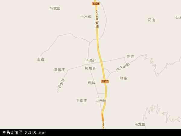 中国云南省丽江市永胜县片角乡地图(卫星地图)