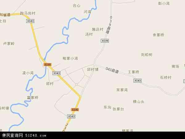 中国安徽省宣城市广德县邱村镇地图(卫星地图)