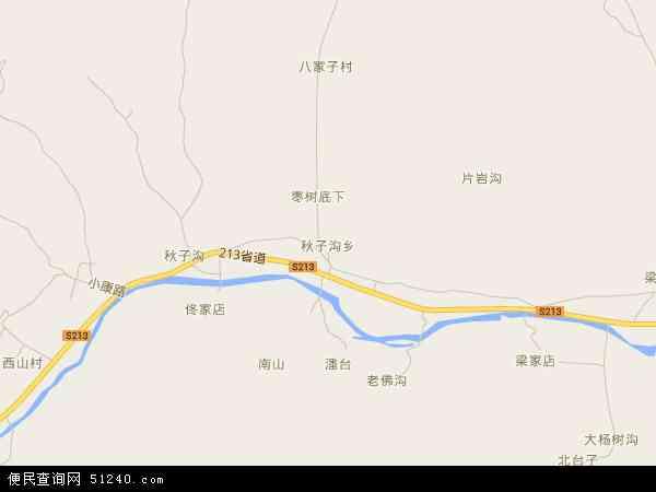 中国辽宁省葫芦岛市绥中县秋子沟乡地图(卫星地图)