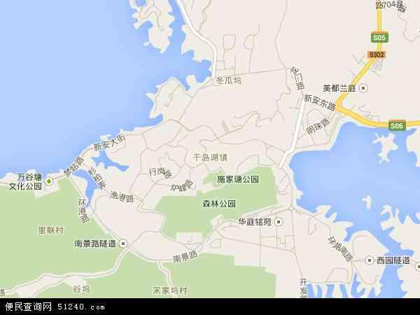 中国浙江省杭州市淳安县千岛湖镇地图(卫星地图)