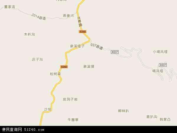 泉溪镇地图 - 泉溪镇卫星地图 - 泉溪镇高清航拍地图