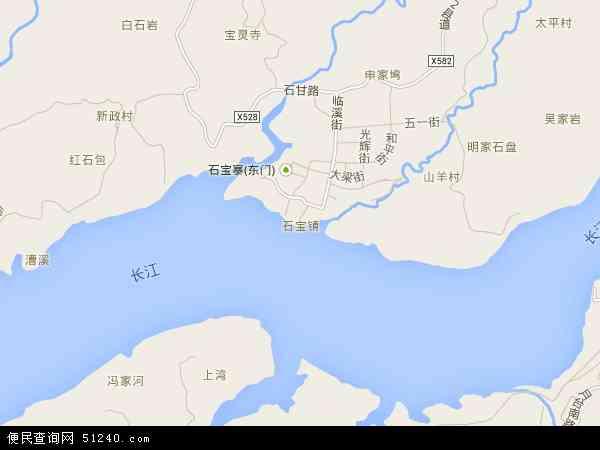中国重庆市忠县石宝镇地图(卫星地图)